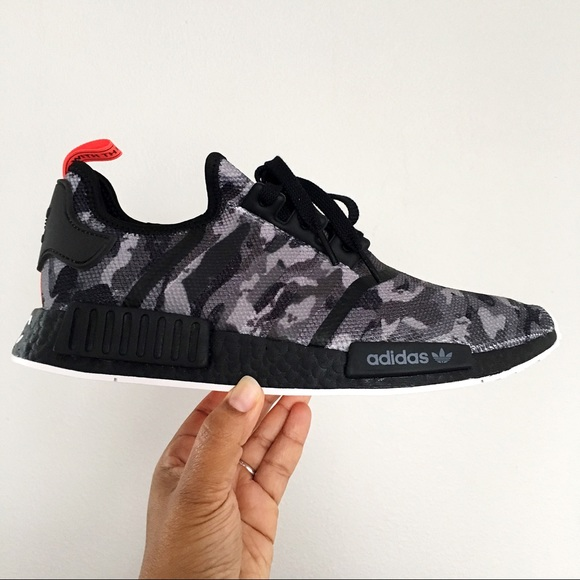Adidas Shoes Mens Nmd R1 Nyc Printed Series Black Camo Poshmark